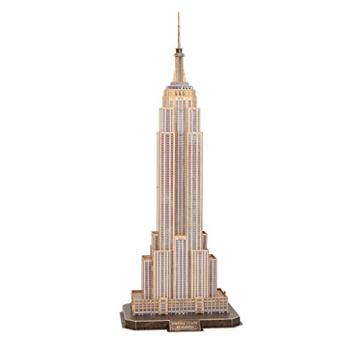 LUGEUK Empire State Building Stereo-Puzzle-Modell 3D-Modellbausätze (groß) (State Empire Building-modell)