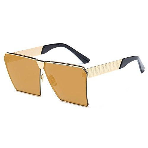 MEIHAOWEI Vintage Einzigartige übergroße UV400 Gradient Square Sonnenbrille Damen Herren Color 10