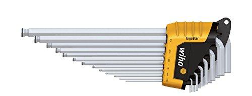 Wiha 369R H13 Jeu de clé mâles six pans à tête sphérique dans étui ErgoStar 13 pièces