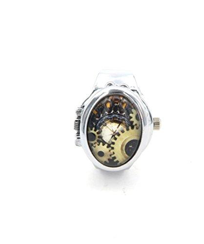 Ring Zahnrad Steampunk (Steampunk Uhren-Ring Ring-Uhr)