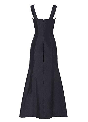 Dresstells Damen Bodenlang Abendkleider Taft Promi-Kleider Grün