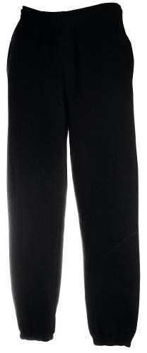 JOGGINGHOSE ELAST BUND FRUIT OF THE LOOM S M L XL XXL L,Schwarz