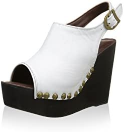 Jeffrey Campbell Sandalo Snike Leather- White Black