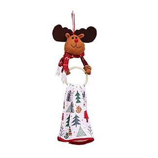 wwzEITpV 1pcs Ropa De Navidad Servilleta Ornamento Anillo De Toalla Servilleta De Cena Colgando Colgante (Ciervos)