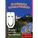 Die beliebtesten deutschen Volkslieder DIN A4 im Ringeinband (+2 CD's) inkl. praktischer Notenklammer - 80 Lieder in großer Schrift zum Hören, Singen, Mitsingen, Musizieren für Gesang, Gitarre, Keyboard und Akkordeon (Ringbindung DIN A4) (Noten/Sheetmusic)