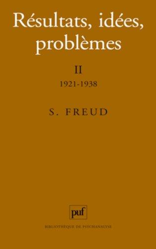 Résultats, idées, problèmes, 5e édition par Sigmund Freud