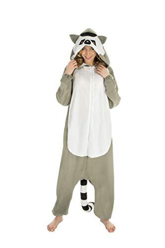 Costume carnevale donna pigiamone procione peluche ps 26577-s/m