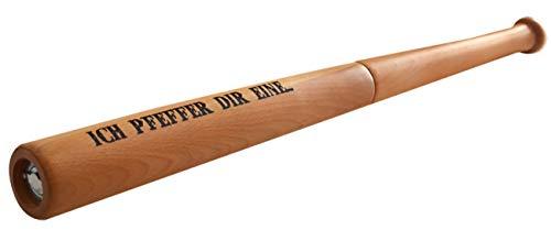Pfeffermühle Baseballschläger ICH PFEFFER DIR EINE