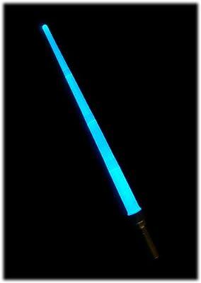Sabre Laser électronique - Lightsaber - Télescopique, avec 6 Couleurs (Change à la Demande) - épée Lumineuse - Modes LED : Intermittent et Constant - Longueur : Plus de 90 cm - Piles Fournies