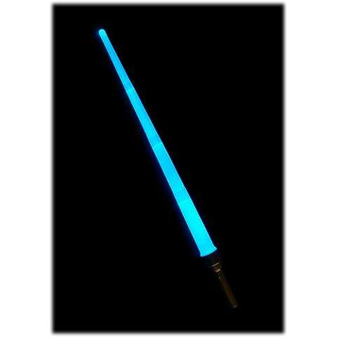 Espada Láser Electrónica - Lightsaber - Extendiéndose y Cambio de la Hoja a 6 Colores Diferentes - Pulsante y Constante (Modos LED) - Más de 90 cm de Longitud - Baterías ya