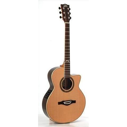 EKO Mia Plus 018CW EQ NATURAL–Guitarra electroacústica, tapa de cedro macizo)