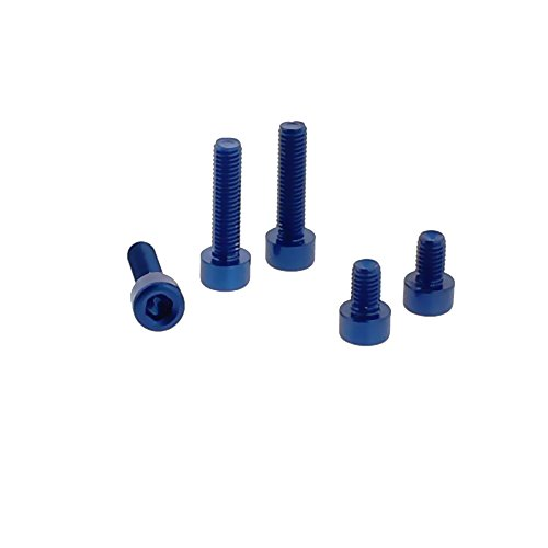Preisvergleich Produktbild JMP Schraube Tankdeckel Satz Alu f. Yamaha FJR 1300 A ABS 1MC1 RP231 RP23 blau 5