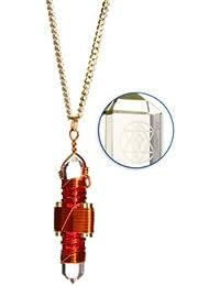 Buddha Maitreya Etheric Weaver® Pendant in Copper Wire - Quartz Crystal Vibrational Healing Tool