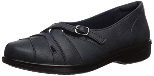 Easy Street Frauen Flache Sandalen Blau Groesse 11 US /42 EU Tan Patent Leather Pumps