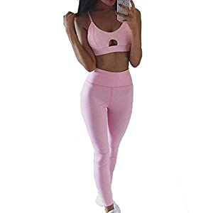 Angel ZYJ Damen Sportswear 2 Teile/Satz Trainingsanzug Hohe Elastizität Sportbekleidung Halfter Sport-Tops