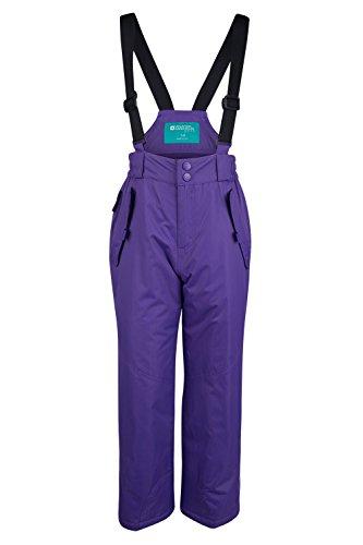 Mountain Warehouse Pantalon de Ski Enfant Garçon Fille Salopette Snowboard Pare-neige bretelles Hiver Honey Violet 7-8 ANS