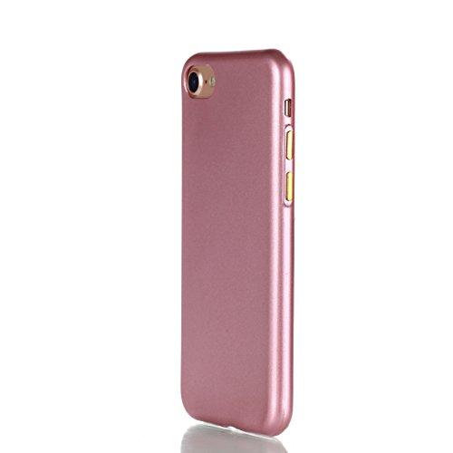 YHUISEN IPhone 7 Plus Case, Solid Color Matte Slim Fit Soft TPU Gel Durable Shock Absorbing Schutzhülle für IPhone 7 Plus (5,5 Zoll) ( Color : Black ) Pink