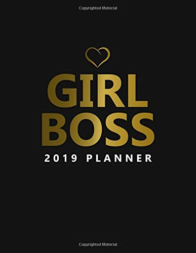 Girl Boss 2019 Planner: Nifty Black Gold Female Empowerment Daily, Weekly and Monthly 2019 Planner Organizer. Cute Girly Inspirational Yearly Agenda, Notebook and Journal. por Nifty Planners