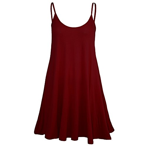 Pure Fashion Damen Ärmeloses Top Mehrfarbig Wine - Party Casual Colored Evening Summer