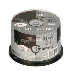 Intenso bedruckbar CDR 50cakepack weiß Inkjet bedruckbar 700MB/80min -