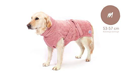 Lill's Hundebademantel, 100% Bio-Baumwolle, Organic Pinkberry (Rosa/Pink) (M)