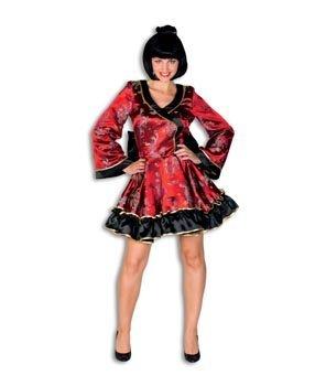 Hochwertiges Sexy Geisha-Kostüm Damen Rot, Gr. ()