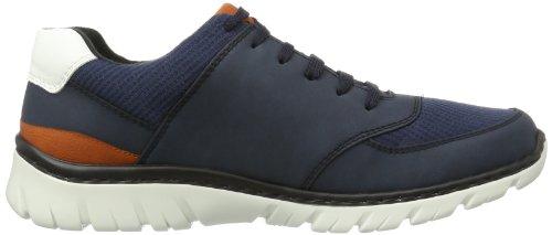 Rieker  B4743 Herren Sneaker Blau (denim/blau/ziegel/weiss 14)