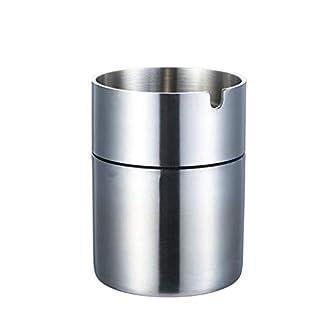 QCXZM Auto Aschenbecher, 304 Edelstahl Gebürstet Winddicht Zigarette Auto Cup Holder, Asche Halter Für Raucher (größe : B)