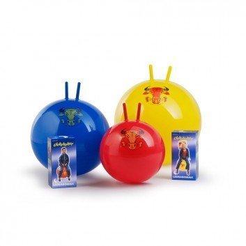 Hüpfball Sprungball Original Pezzi Globetrotter für Kinder und Erwachsene, berstsicher (rot 42 cm   Alter 4 +)