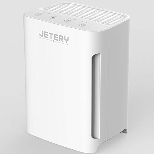 Luftreiniger Air Purifier mit True HEPA Filter, JETERY Raumluftreiniger mit UVC Light Entfernt Allergie, Staub, Schimmelsporen, Pollen, Haustiere Dander und Geruch, CADR 100+m3/h, Air Cleaner JT-8006