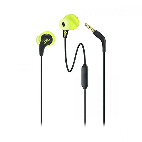 JBL Endurance Run Sweat-Proof Sports in-Ear Headphones with One-Button Remote and Microphone (Yellow) Image 4