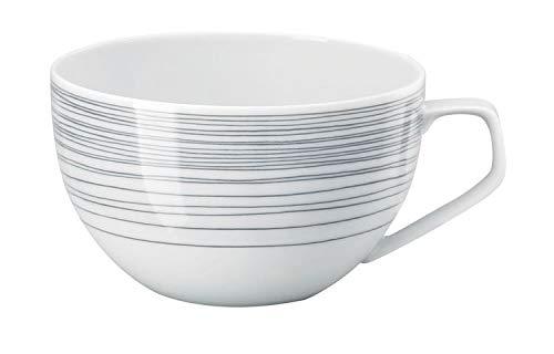 Rosenthal - TAC Gropius - Stripes 2.0 - Kombi-Obertasse/Tasse/Kaffeetasse/Teetasse - Porzellan - 300 ml