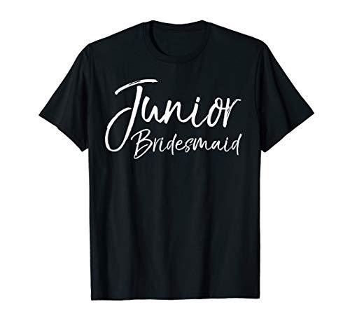 Wedding Bridal Party Gift for Bridesmaids Junior Bridesmaid T-Shirt -