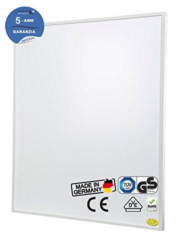 Brudek Infrarotheizung 450 Watt mit Thermostat & Stecker | 5 Jahre Hersteller Garantie | für Ihr Badezimmer | Energieeffizient & Sparsam elektrisch heizen | Wand oder Decken-Montage möglich | Elektroheizung Made in Germany | IMPERIAL-Serie