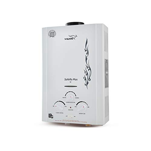 V-Guard 5 L Safeflo Plus Gas Geyser (White)