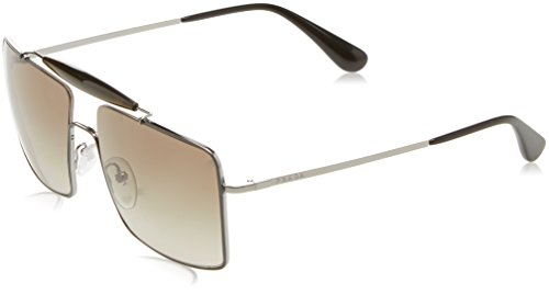 Prada Herren 0PR57SS UFT5O2 58 Sonnenbrille, Grau (Topo Grey/Gunmetal/Green)