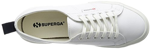 Superga 2750-Fglu, Sneaker a Collo Basso Unisex – Adulto Bianco