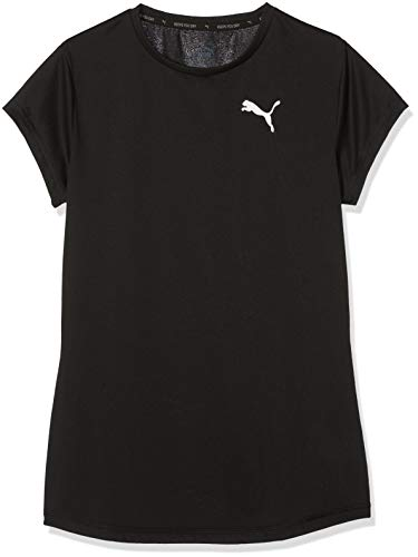PUMA Mädchen Active Tee G T-Shirt, Black, 116