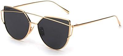 gaxuvi Fashion twin-beams Classic Mujeres metal marco espejo gafas de sol gafas de ojo de gato