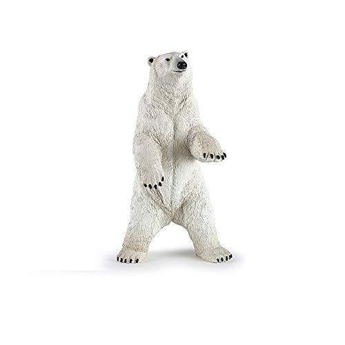 prbll Ornamente Tier-Simulationsmodell-Weißer Bär Nil-Krokodil-Schwarzes Nashorn-Flusspferd Afrikanische Büffel-Schildkröten-Spielzeug-Sammlung -