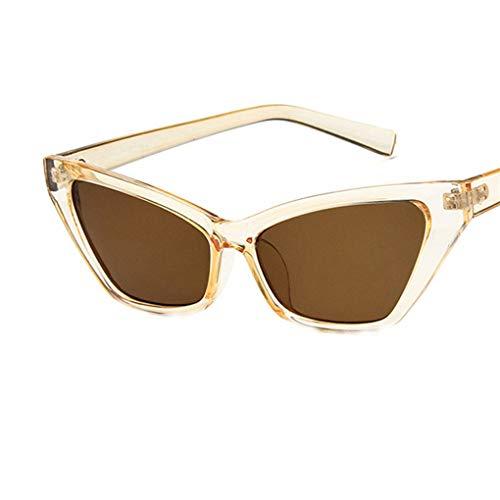 Sonnenbrille Polarisiert für Damen/Dorical Cat Eye Brille kleiner Rahmen Gläser Sonnenbrille mit...