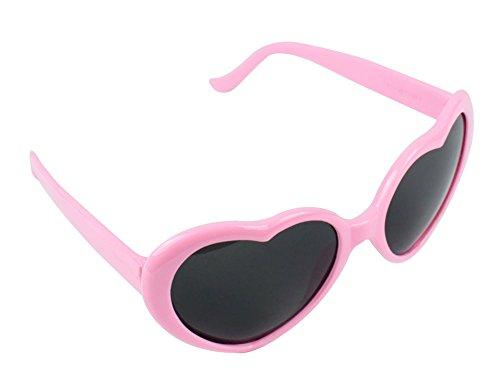 niceeshop(TM) Modern Süß Herzförmig Kunststoff Rahmen Retrostil Sonnenbrille Brille, Rosa