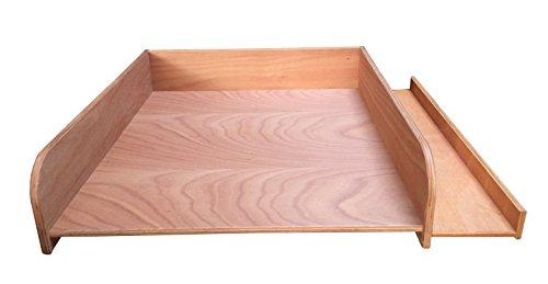 Fasciatoio Heads con ripiano laterale, in vera legno di faggio, Wick Elf superficie 60x 70cm, materassino per fasciatoio, fasciatoio, Inserto per lavatrice o asciugatrice