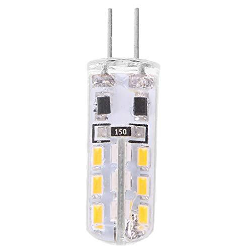 Xuniu G4 Silica Gel 3W 24 LED SMD 3014 Lámpara Bombilla Blanca...