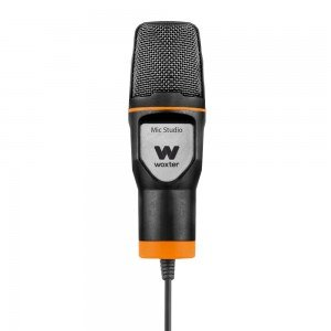 Woxter Mic Studio - Micrófono de condensación (filtro pop killer, trípode incluido, conexión 3.5mm, compatible con Youtube, Skype, Twitch) color negro