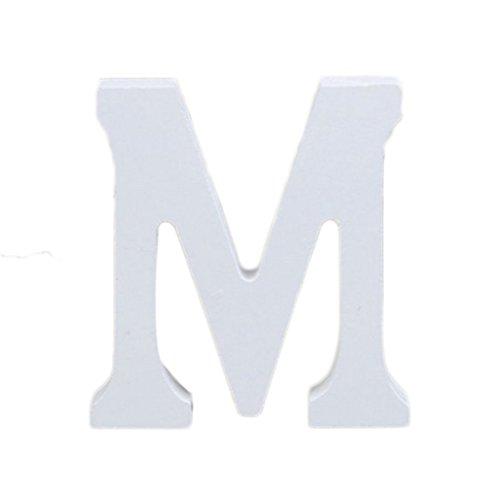 Takestop/® letras alfabeto letra L de madera blanco H 11/cm Decoraci/ón confettata boda cumplea/ños Promessa arredo casa Wedding
