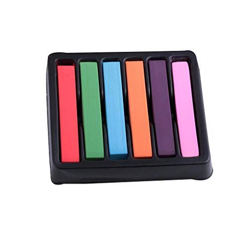 en-6 Farbe Temporary Waschbar DIY Haar Kreiden Dye Pens Weiche Pastelle Einmaliger Färben ()