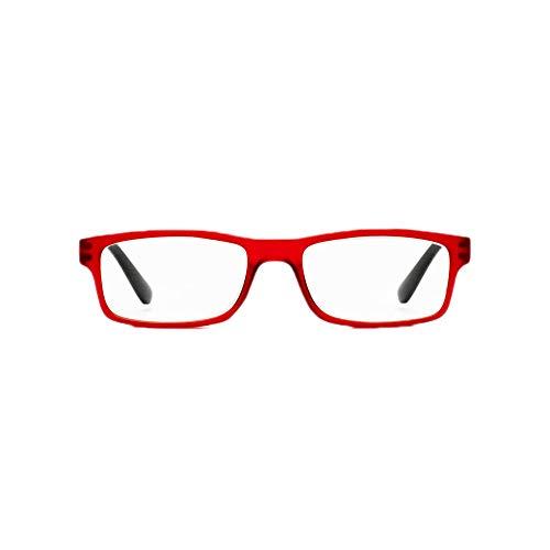 Z-ZOOM Lesebrille Style 09034 Rot +2.5 Damen Herren Unisex Lesebrillen Augenoptik Flexibel Lesehilfe Sehhilfe Leser Brille Zoom, 2.5