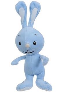 Kikaninchen Handpuppe 30cm Kika Hase Maskottchen Stofftier Kaninchen blau plüsch