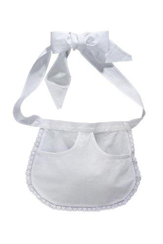 Servierschürze Elke weiß (Weiße Schürze Kostüm)